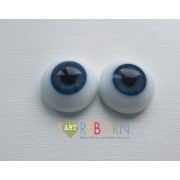 Prestige Solid Flat Back Eyes - TURQ Blue