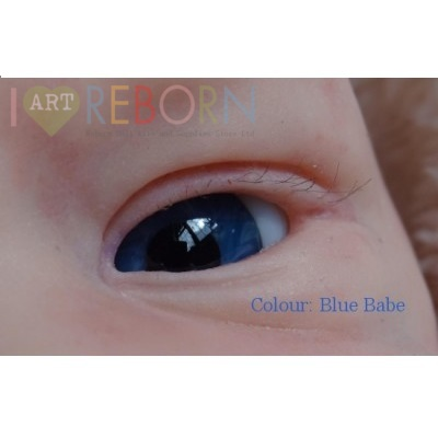 SMALL IRIS - Ultra Newborn Glass Eyes - Blue Babe